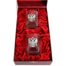 Набор бокалов для виски в футляре Герб