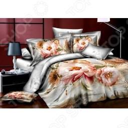 Комплект постельного белья Аура «Жемчужный пион».