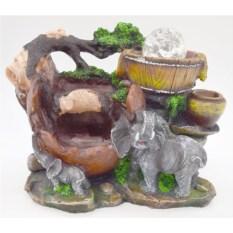 Декоративный фонтан Слоны, высота 23 см