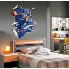 Виниловая 3D наклейка Баскетбол