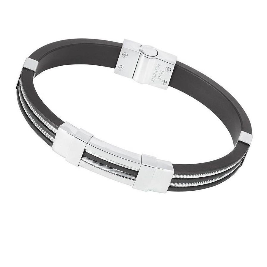 Мужской каучуковый браслет