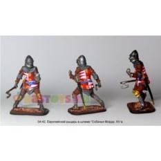 Оловянный солдатик Европейский рыцарь, шлем собачья морда
