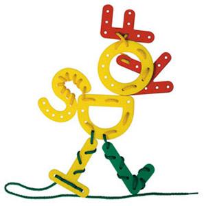Буквы и цифры на шнуровках
