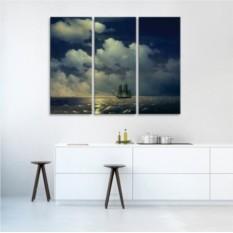 Модульная картина Айвазовский. Бриг Меркурий