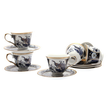 Чайный набор на 6 персон «Павлин»