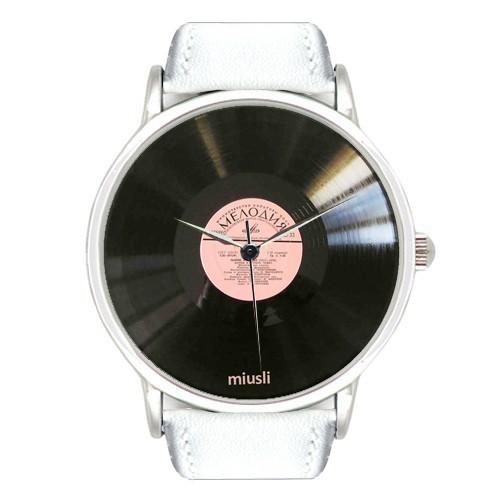 Наручные часы Miusli Пластинка мелодия White
