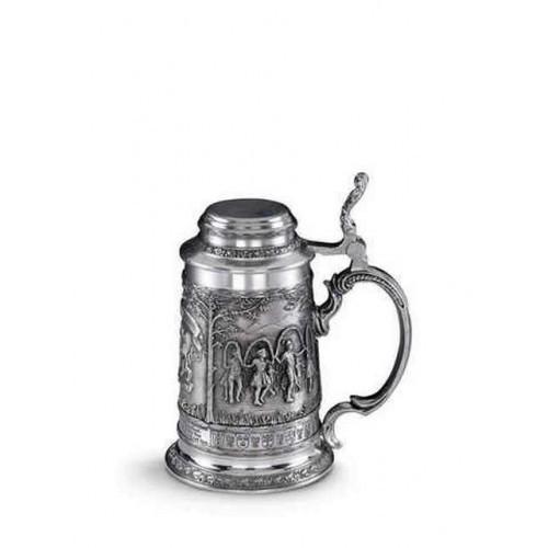 Коллекционная пивная кружка из олова Баварские гулянья