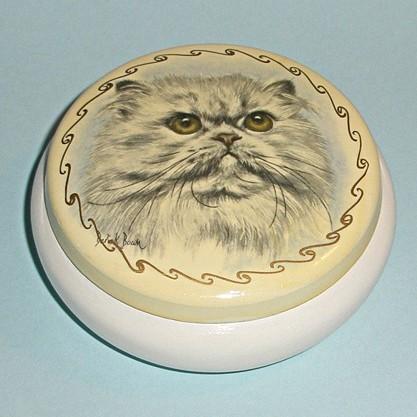 Винтажная шкатулка «Суровый кот»