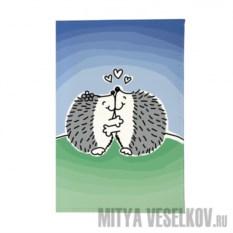Обложка для автодокументов Влюбленные ёжики