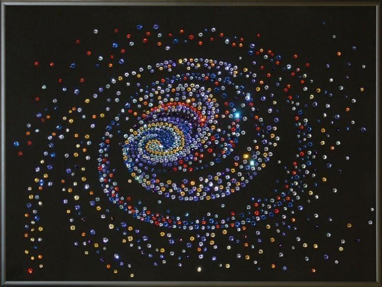 Картина Сваровски Звездные ворота, 1260 кристалл, 30х40