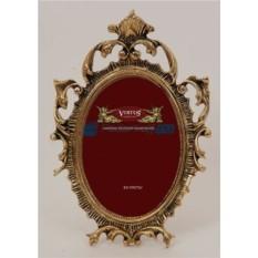 Золотая фоторамка из бронзы Рококо