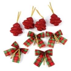 Набор красных декоративных украшений Волшебный праздник