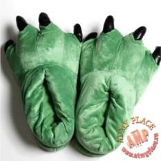 Зеленые тапки Лапы с когтями