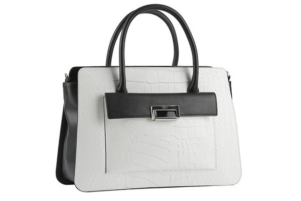 Чёрно-белая женская сумка Leo Ventoni