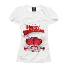 Женская футболка с сердечками С любовью