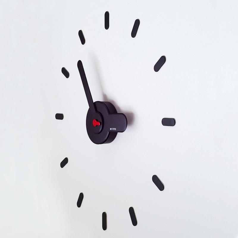 Самоклеющиеся настенные часы ручной работы - ON-TIME черные