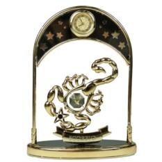 Фигурка декоративная с часами Знак зодиака Скорпион