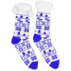 Домашние мужские синие носки