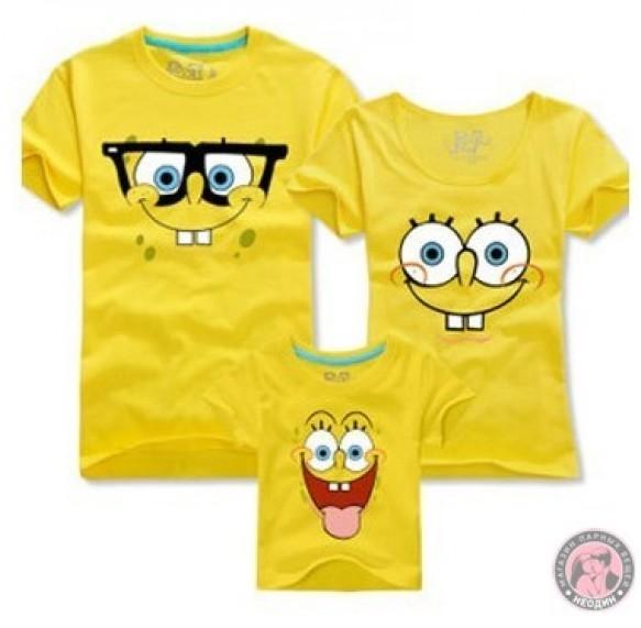 Семейные футболки Губка Боб