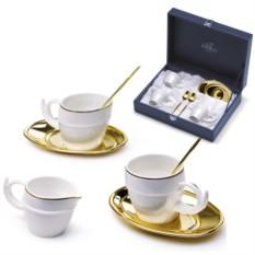 Набор для кофе Золотой завиток на 2 персоны