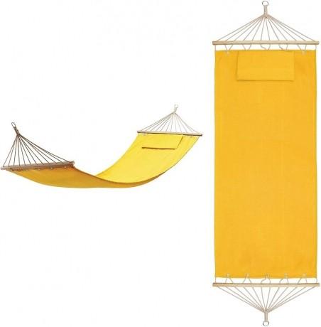 Хлопковый желтый гамак с подушкой Майами в сумке