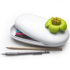 Пенал-шкатулка Blossom (цвет: белый/зеленый)