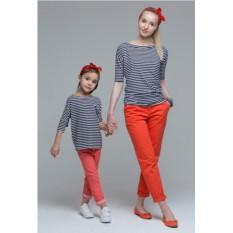 Комплект полосатых футболок Majorca для мамы и дочки