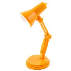 Оранжевый светильник для чтения книг