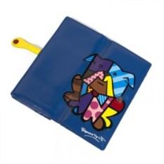 Большой кошелек Britto Bull Dog синего цвета