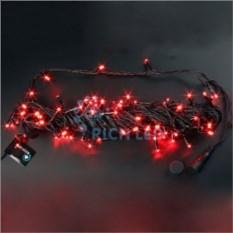 Красная светодиодная гирлянда-нить 10 м
