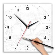 Часы-раскраска с акварельными красками