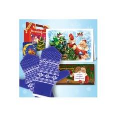 Набор с синими рукавичками от Дедушки Мороза