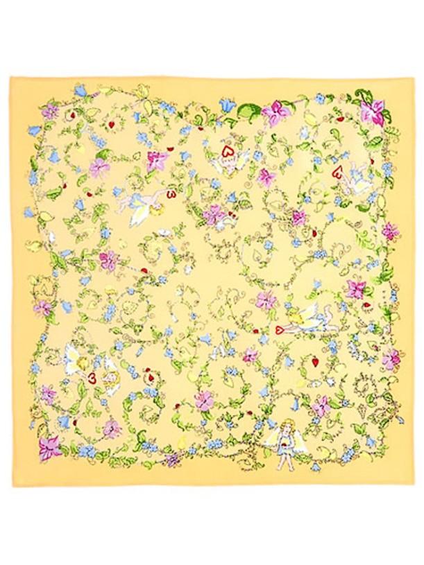 Павловопосадский шелковый платок Купидоны