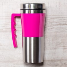 Розовая термокружка Адель
