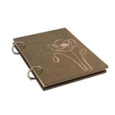 Блокнот деревянный «Мак степной»