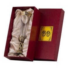 Бокал для шампанского 60 лет в картонном футляре