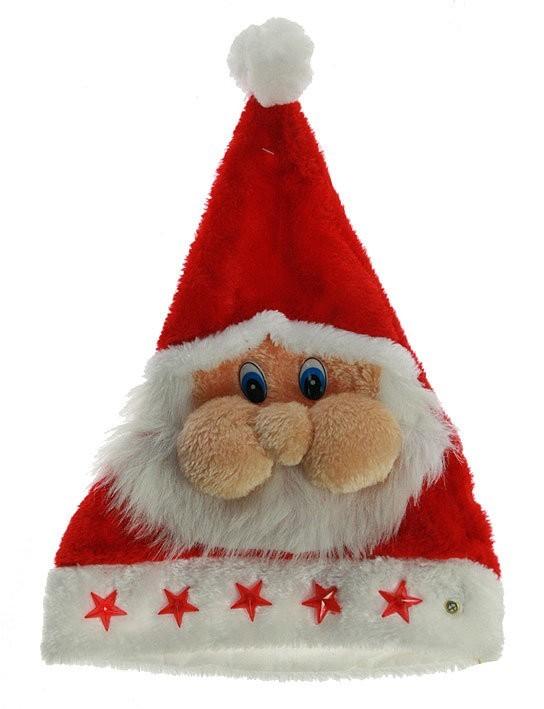 Карнавальный аксессуар Шапка Деда Мороза с подсветкой