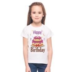 Детская футболка Happy birthday с рисунком Тортик