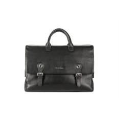 Мужской черный портфель L.Facini