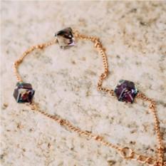Браслет «Миражи» с фиолетовыми кристаллами Сваровски