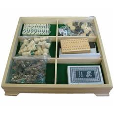 Набор игр шашки, шахматы, домино, нарды, карты, кости
