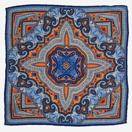 Разноцветный платок Calabrese с восточным узором