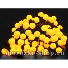 Электрогирлянда Большие желтые мультишарики, 100 желтых LED ламп