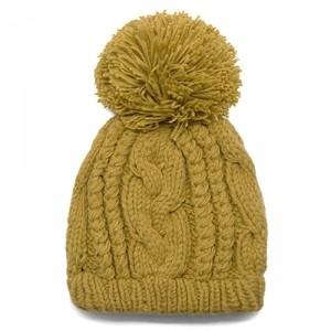 Шапка Relief knitting (темно-желтая)