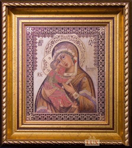 Гравюра Икона Владимирской Божией матери