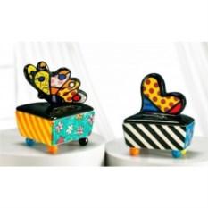 Керамическая шкатулка Britto коллекция Heart&Butterfly 1
