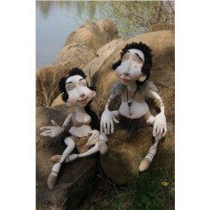 Текстильные куклы EvaDolls Адамчик и Евочка