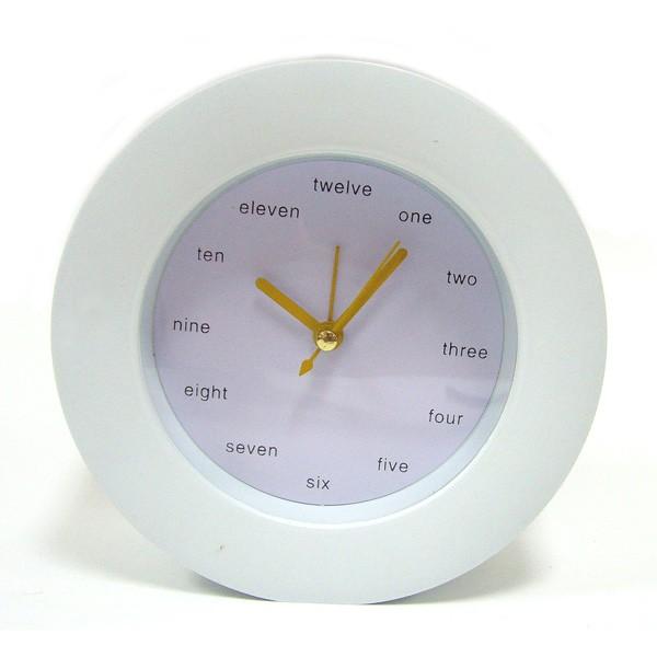 Часы-будильник настольные Английские белые