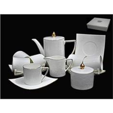 Фарфоровый чайный сервиз Lenardi Белая Роза, 15 предметов
