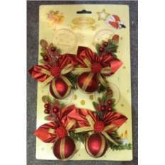 Набор из красных декоративных украшений Волшебный праздник